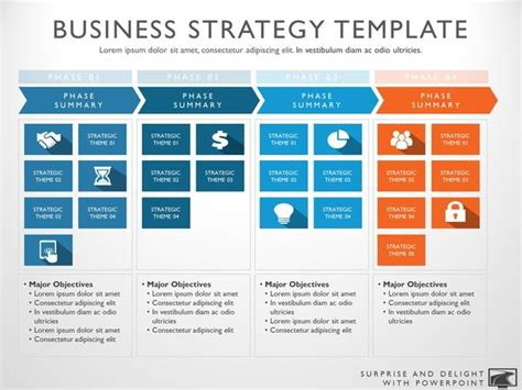 Business Strategy Template Corporate Marketing Strategy Template