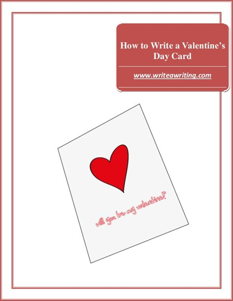 how to write a valentine s day card