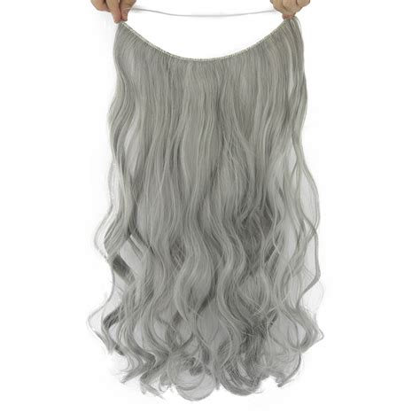 invisible line hair extensions soowee 10 colors 24 long gray blonde synthetic hair heat