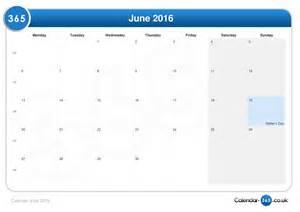 june 2016 calendar june 2016