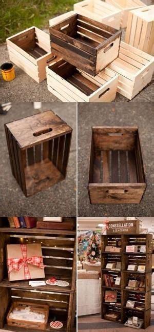 diy wooden cratesshelvesstorage  summer diy home