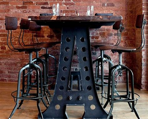 metal and wood kitchen table 25 sleek industrial furniture finds