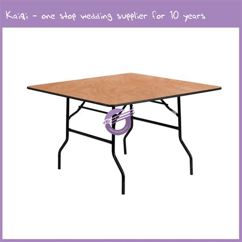 4ft square folding table 4ft square wood folding banquet table vinyl edge zy00050