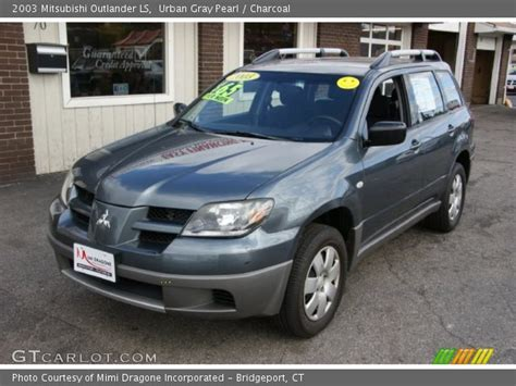 2003 mitsubishi outlander ls 2 4 liter sohc 16 valve 4 cylinder engine photo 57971216 urban gray pearl 2003 mitsubishi outlander ls charcoal interior gtcarlot com vehicle