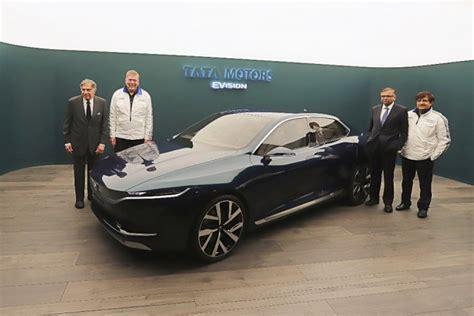 jeep sedan concept tata motors reveals sleek e vision electric sedan concept