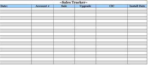 sales tracker template template sle