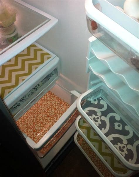 How To Make A Paper Refrigerator - 1000 ideas about shelf liners on drawer