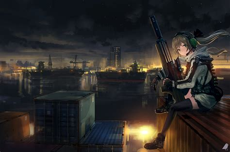 anime soldier girl wallpaper download 1920x1270 anime girl soldier sitting sniper