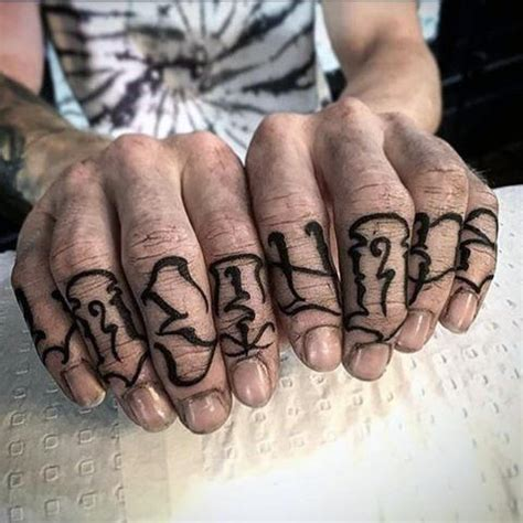 knuckle tattoo font top 100 best knuckle tattoos for a of ideas