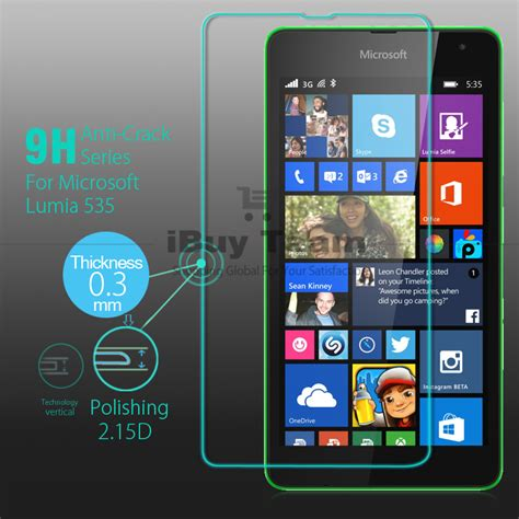Tempered Glass Lumia 535 ultra thin tempered glass for microsoft lumia 535 screen protector explosion proof for
