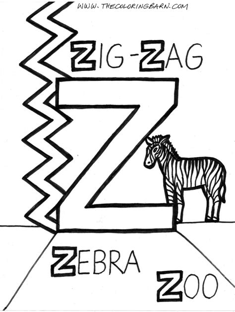 free coloring pages of letter z
