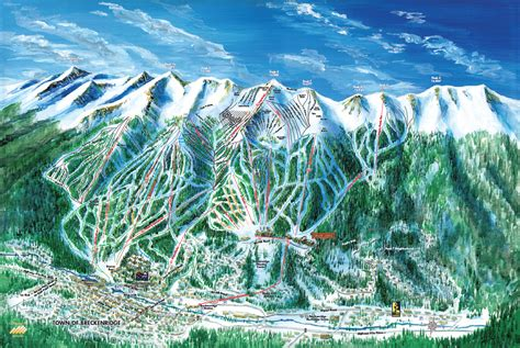 breckenridge ski map breckenridge ski trail map artist kevin mastin