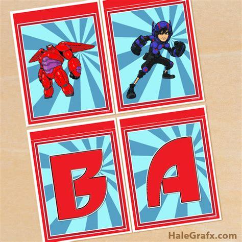 free printable baseball alphabet banner pack free printable big hero 6 alphabet banner pack