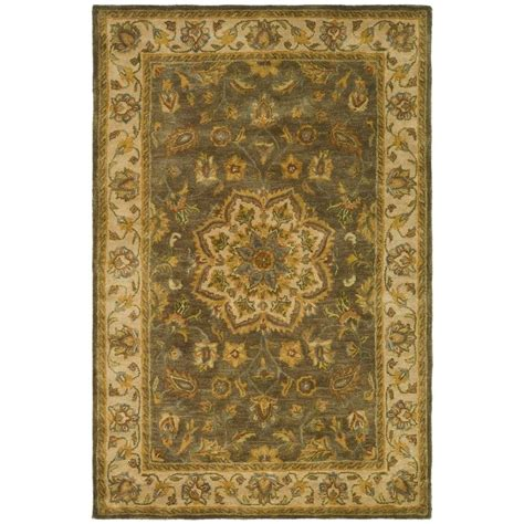 Safavieh Heritage Rug Safavieh Heritage Green Taupe 4 Ft X 6 Ft Area Rug Hg954a 4 The Home Depot