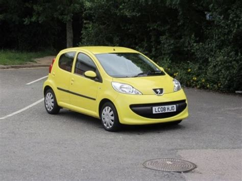 Yellow Peugeot 107 Cars Sale