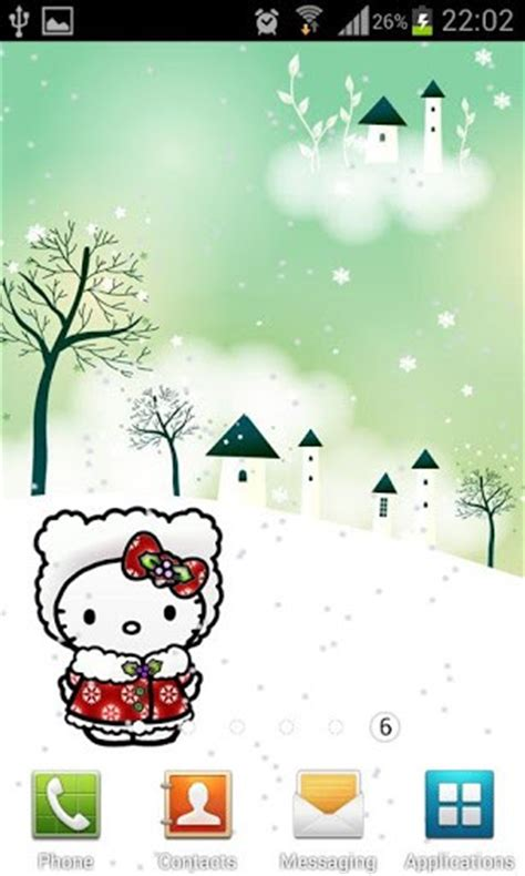 kitty themes for winter winter hello kitty holidays app for android