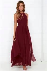 wine colored maxi dress beautiful wine maxi dress homecoming dress prom