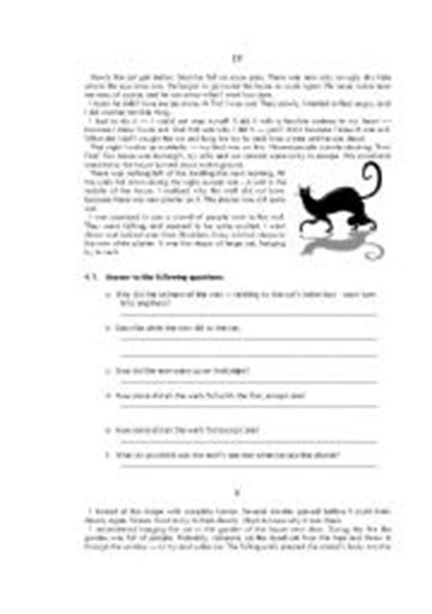 edgar allan poe biography worksheet answers the black cat questions worksheet answers cute cats