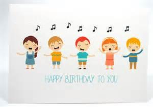 happy birthday card kids singing happy birthday hbc169