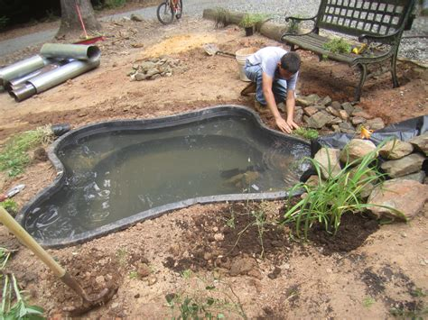 backyard pond liners news pond liner home depot on how to make a pond with a preformed pond liner ron wood project