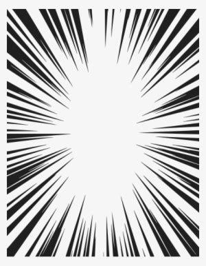 radial speed lines frame  transparent png