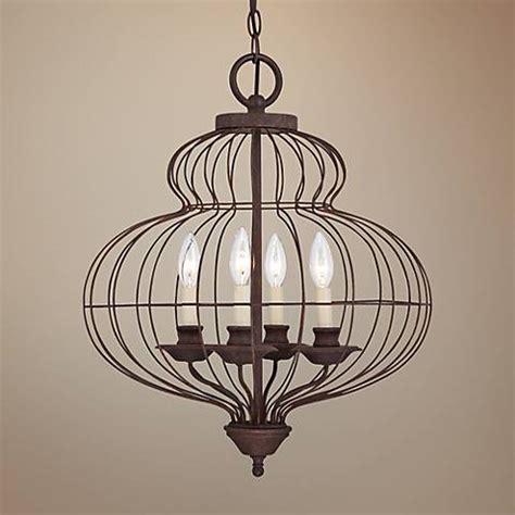 Quoizel Laila 19 Quot Wide 4 Light Cage Chandelier X8978 Cage Light Chandelier