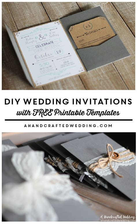 Best 25 Diy Invitations Ideas On Pinterest Vintage Wedding Invitations Pinterest Wedding Wedding Invitation Sles Free Templates