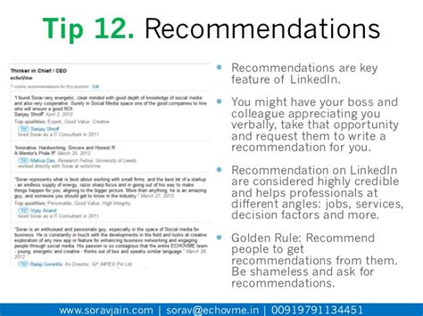 Recommendation Letter Template Linkedin 50 Fantastic Tips To Make Your Linkedin Profile Credible Visible En