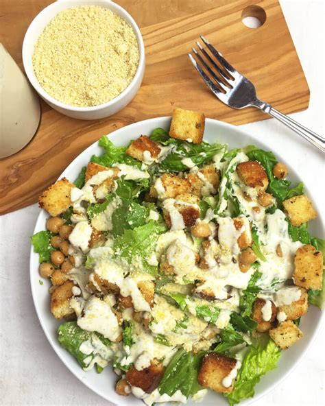 recipe for caesar salad vegan caesar salad recipe with creamy caesar dressing