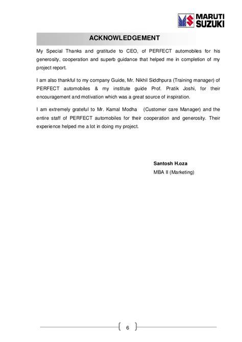 Maruti Suzuki Internship Sip Report Of Crm On Maruti Suzuki