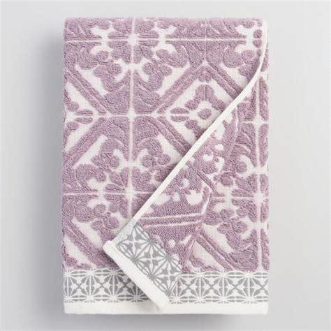 lavender bath towels lavender sculpted bath towel world market