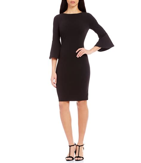 calvin klein bell sleeve sheath dress dillards