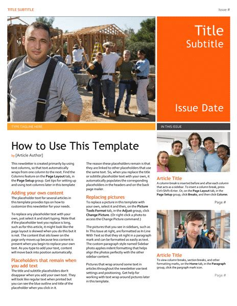 Template Newsletter Free by Free Newsletter Template Office Templates