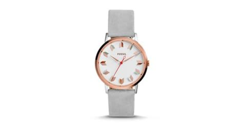 Fossil Me3131 Vintage Muse Automatic Iron Leather vintage muse three iron leather fossil