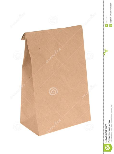 How To Make A Paper Lunch Bag - brown paper lunch bag stock images image 6817114