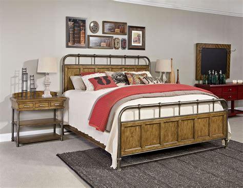metal and wood bedroom furniture new vintage brown metal wood bedstead bedroom set from