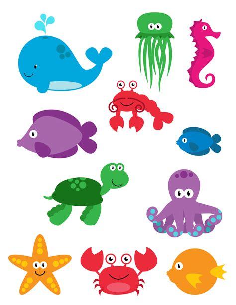 Printable Ocean Animal Cutouts | good looking sea creature cutouts sea life fish ocean