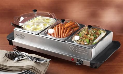 mini 3 station buffet server with warming tray just 20 50