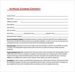 catering contract template catering contract template 9 free documents in