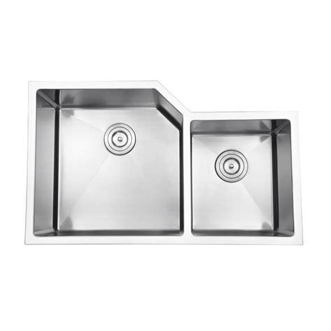 40 Kitchen Sink 33 Inch Stainless Steel Undermount 60 40 Offset Bowl Kitchen Sink With Free Accessories