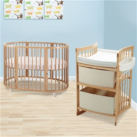 Stokke Oval Crib by Stokke Sleepi 2 Nursery Set Modern Oval Crib With