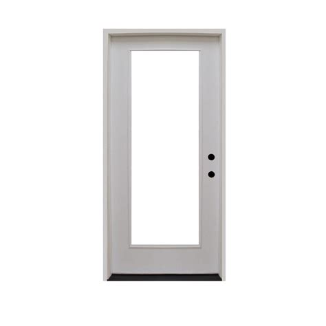 28x80 Exterior Door Steves Sons 28 In X 80 In Premium Lite Primed White Fiberglass Prehung Front Door Fgfl