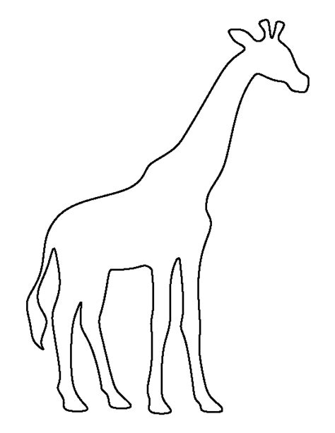 Printable Animal Outlines | giraffe pattern use the printable outline for crafts
