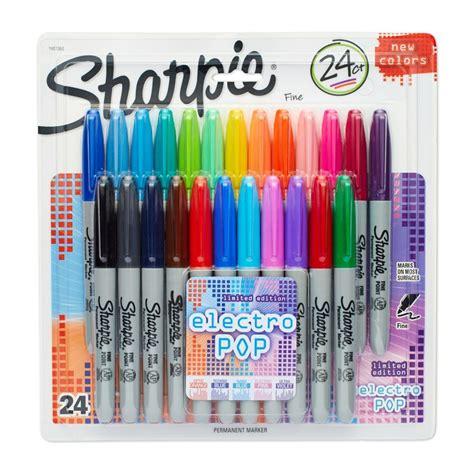 sharpie electro pop permanent markers pk stationery bm