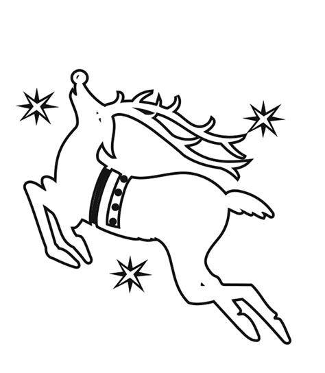 coloring pages of reindeer flying christmas reindeer picture cliparts co