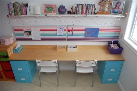 How To Build A File Cabinet Desk Diy Desk With File Cabinets