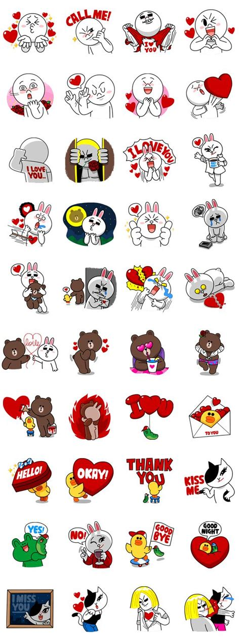 Wallpaper Emoji Line | 画像 line characters in love by line line me genre