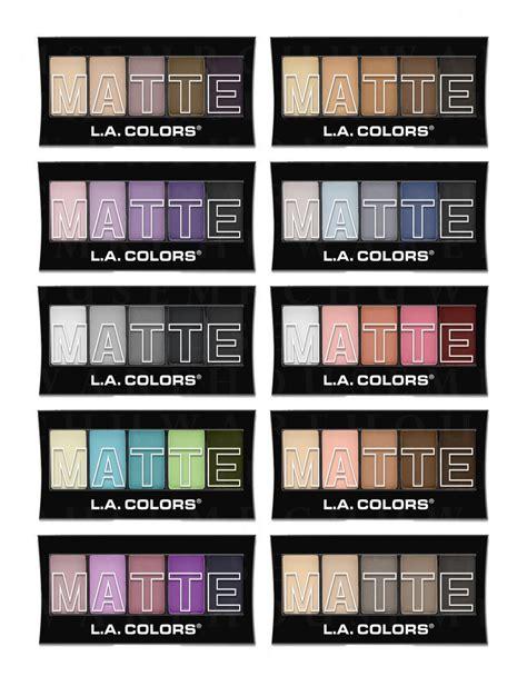 Dijamin La Colors Matte Eyeshadow Suede la l a colors matte eyeshadow palettes beautiful matte colors last reviews leading