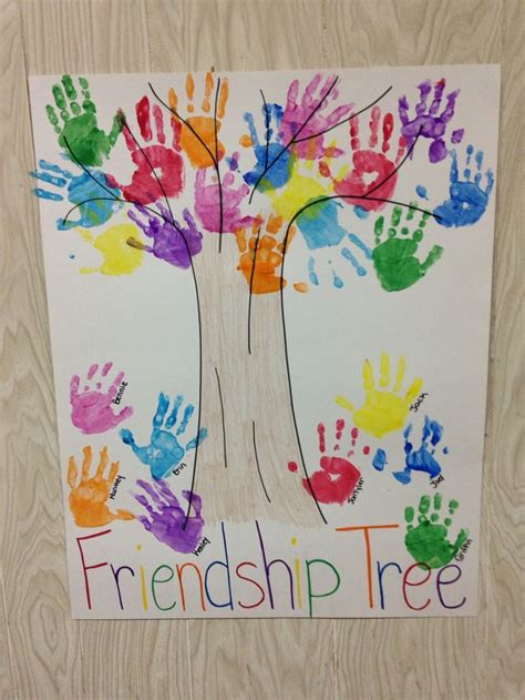 friendship tree template preschool handprint friendship tree summer c