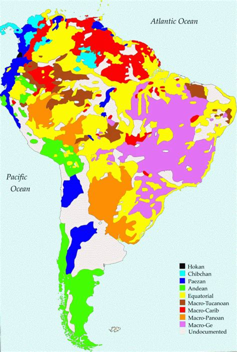 south america map by language evolution of human languages